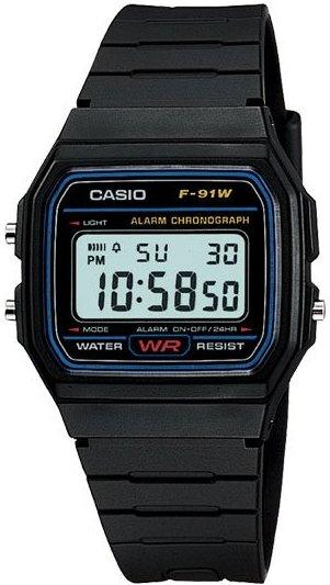 Оригинальные часы Casio Standart F-91W-1Q