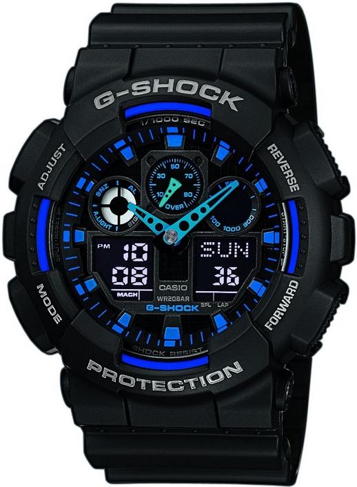 Оригинальные часы Casio G-Shock GA-100-1A2ER