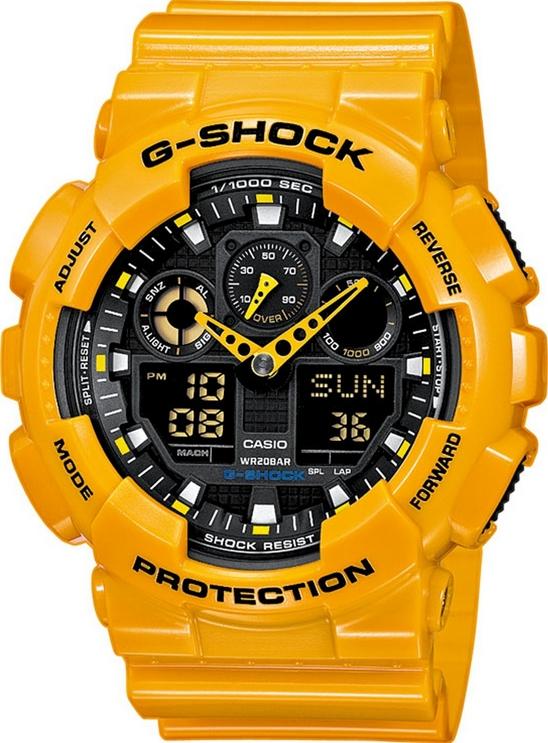 Оригинальные часы Casio G-Shock GA-100A-9AER