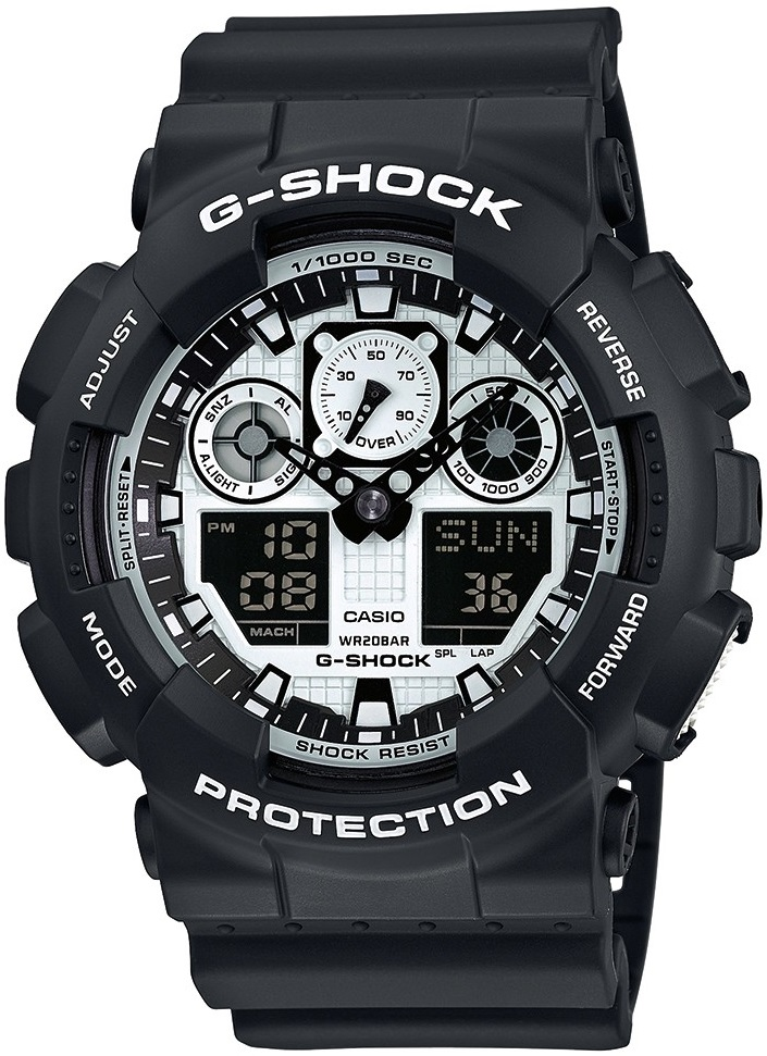 Оригинальные часы Casio G-Shock GA-100BW-1AER