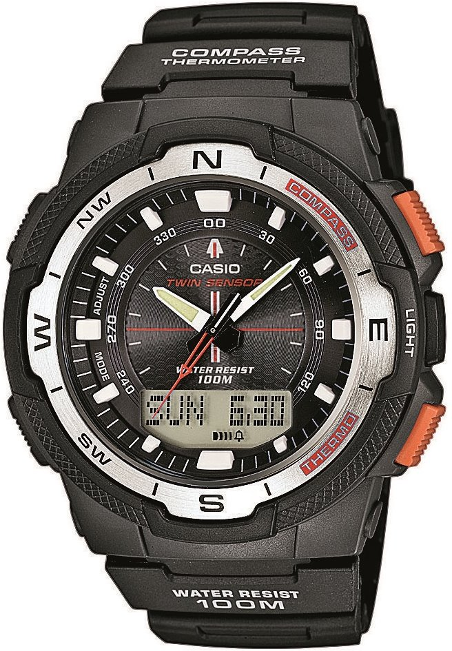 Оригинальные часы Casio Pro-trek SGW-500H-1BVER